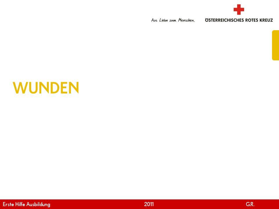 WUNDEN Erste Hilfe Ausbildung 2011 G.R.