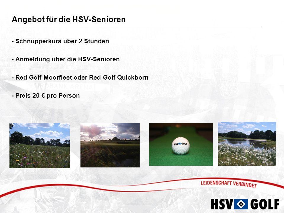 Angebot für die HSV-Senioren