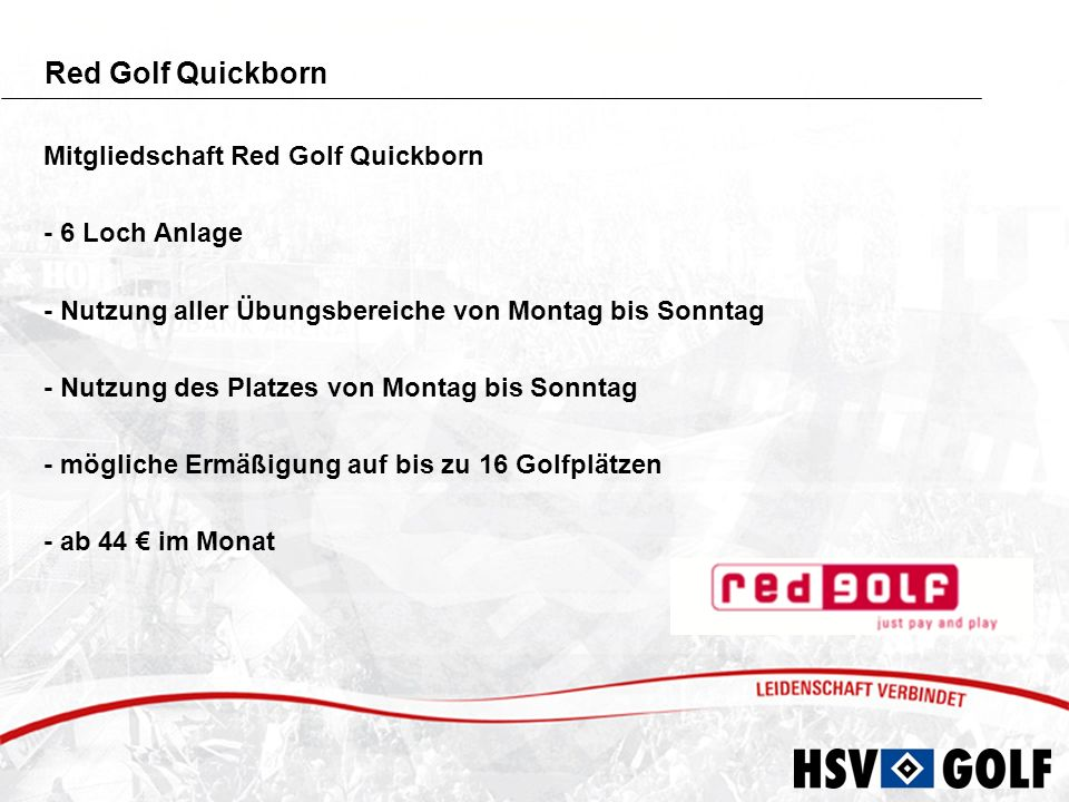 Red Golf Quickborn Mitgliedschaft Red Golf Quickborn - 6 Loch Anlage