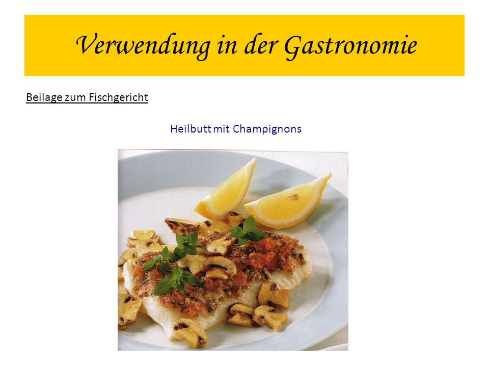 Verwendung in der Gastronomie