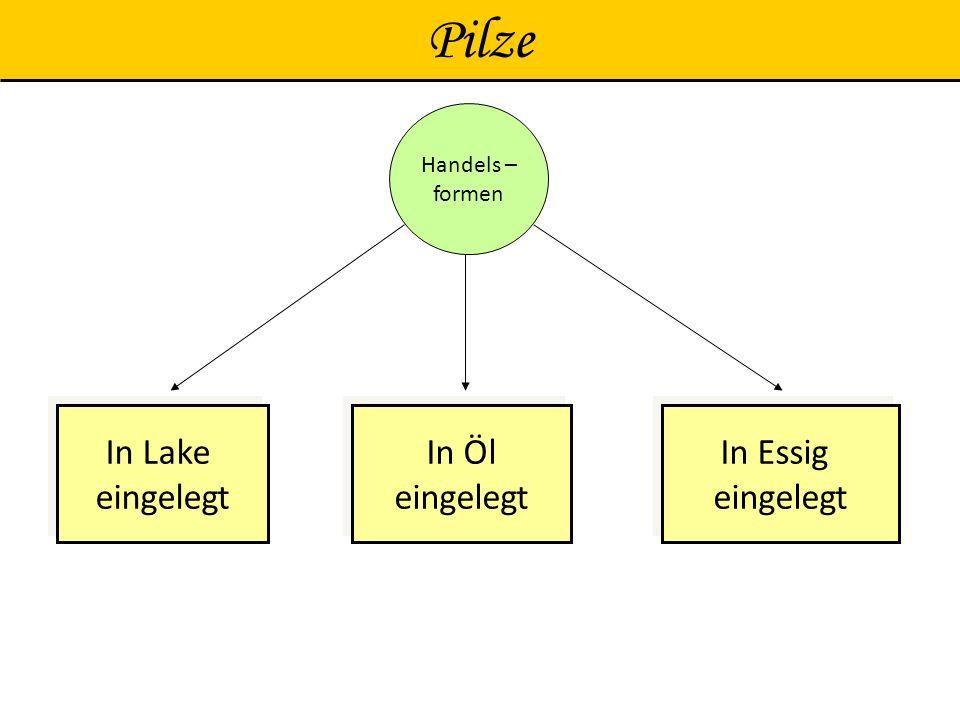 Pilze Handels – formen In Lake eingelegt In Essig In Öl
