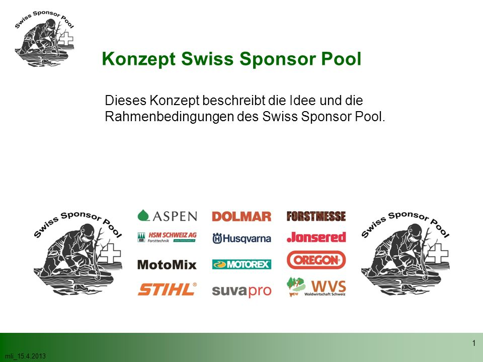 Konzept Swiss Sponsor Pool