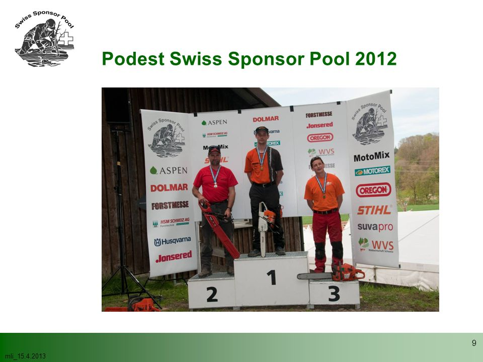 Podest Swiss Sponsor Pool 2012