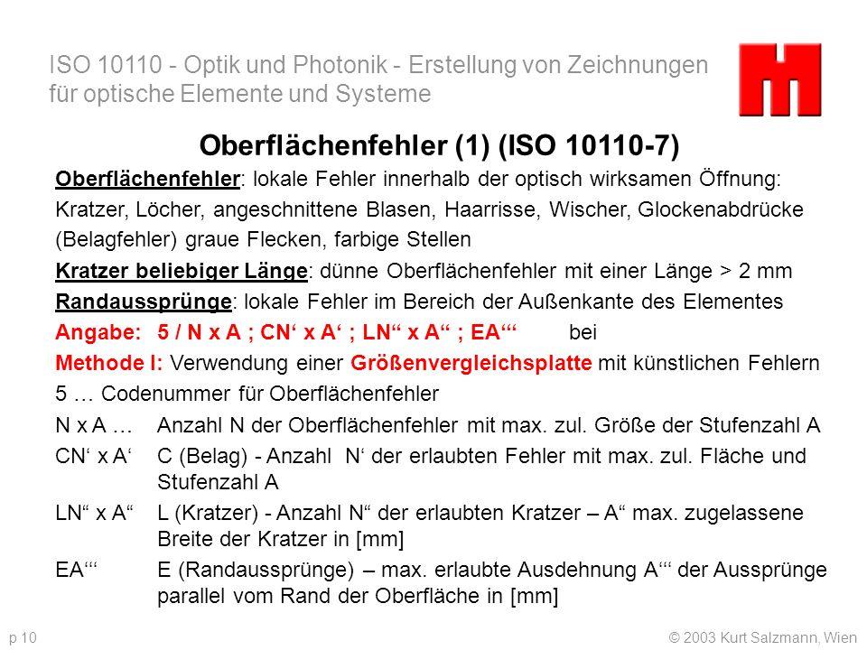 Oberflächenfehler (1) (ISO 10110-7)