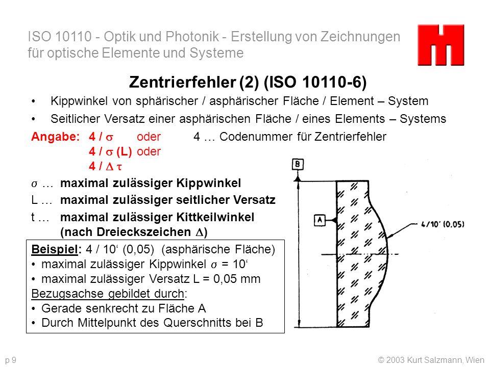 Zentrierfehler (2) (ISO 10110-6)