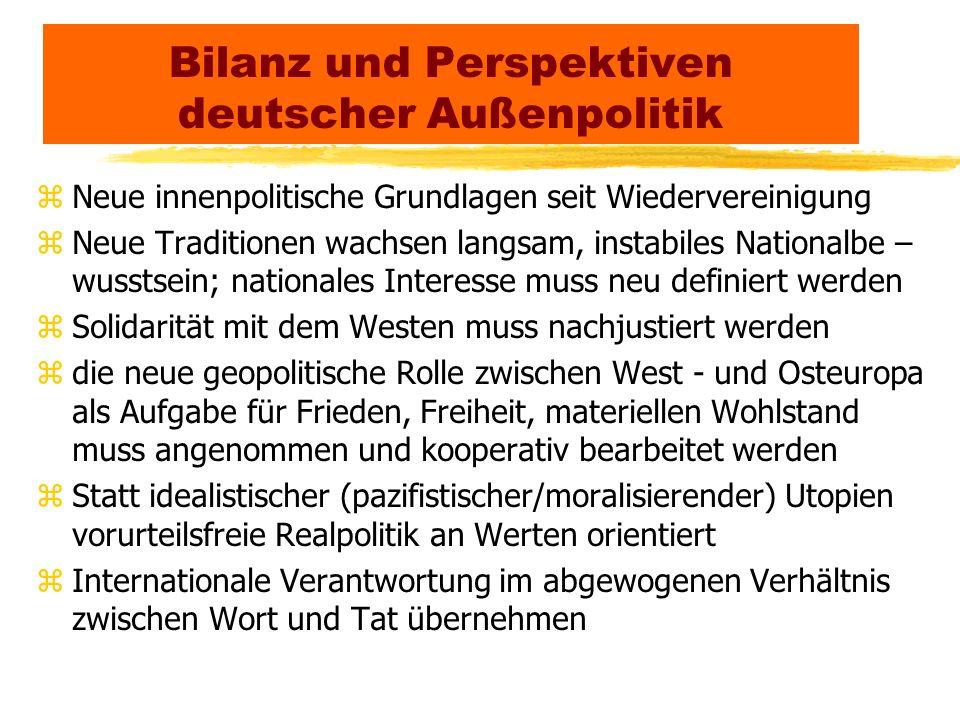 Bilanz und Perspektiven deutscher Außenpolitik