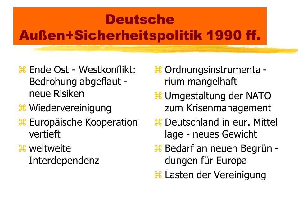 Deutsche Außen+Sicherheitspolitik 1990 ff.