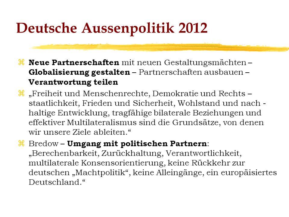 Deutsche Aussenpolitik 2012