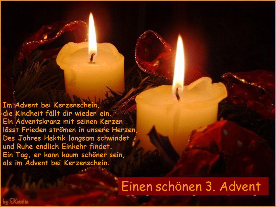 Im Advent bei Kerzenschein, die Kindheit fällt dir wieder ein