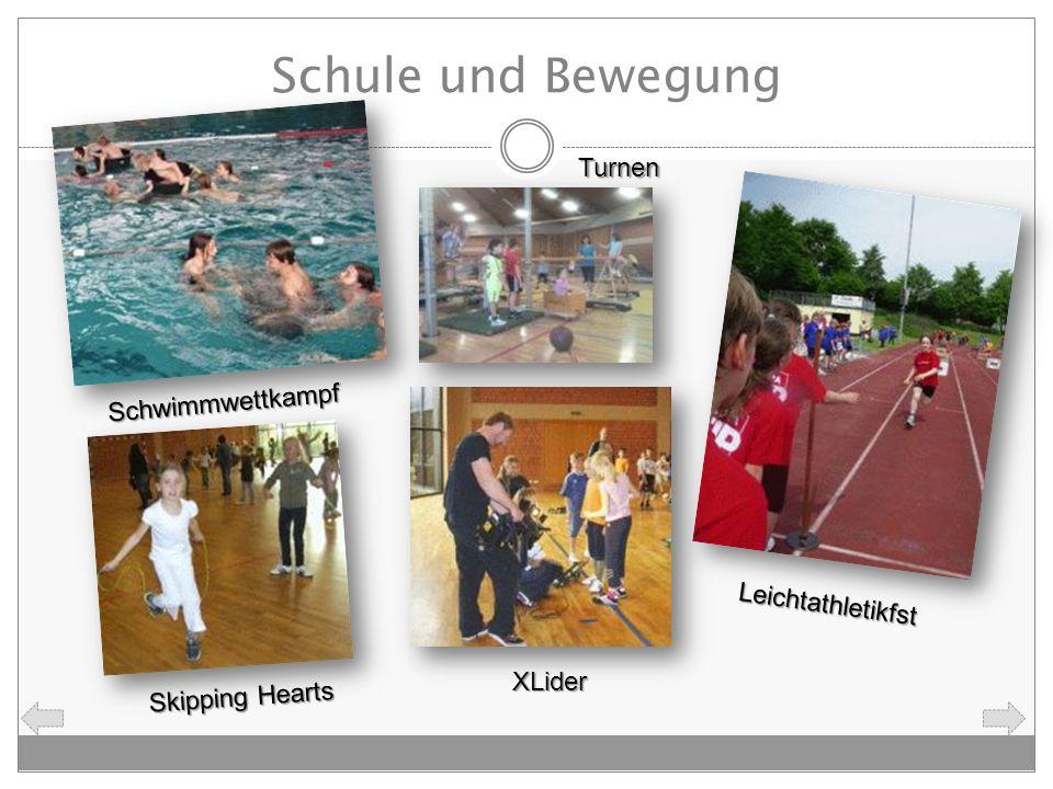 Schule und Bewegung Turnen Schwimmwettkampf Leichtathletikfst XLider