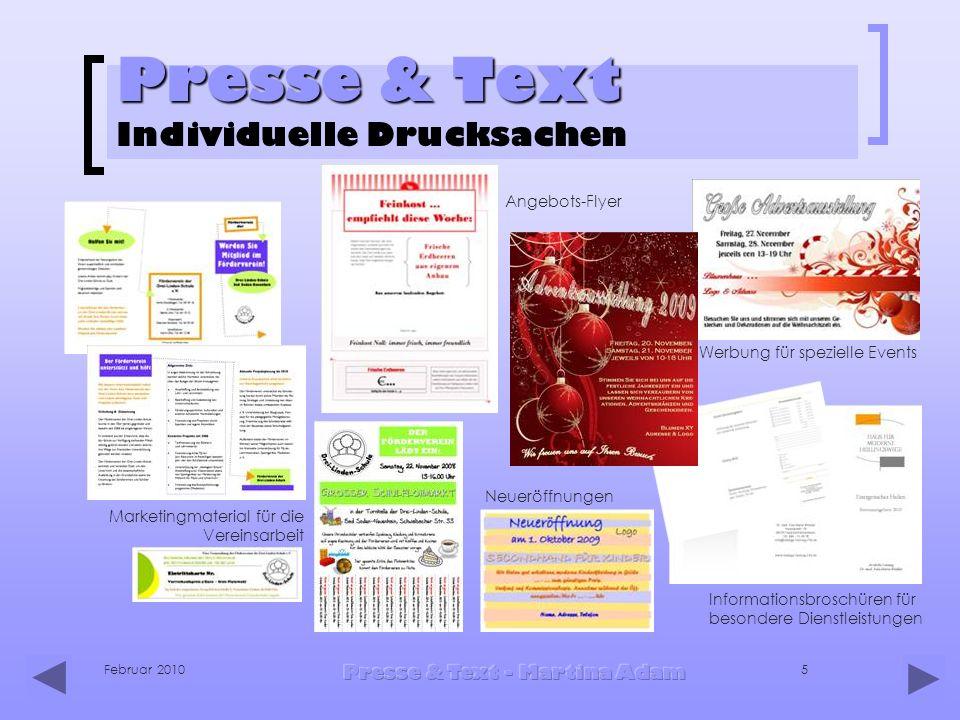 Presse & Text Individuelle Drucksachen