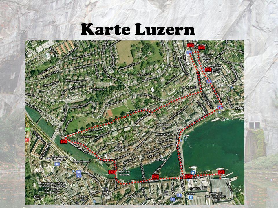 Karte Luzern