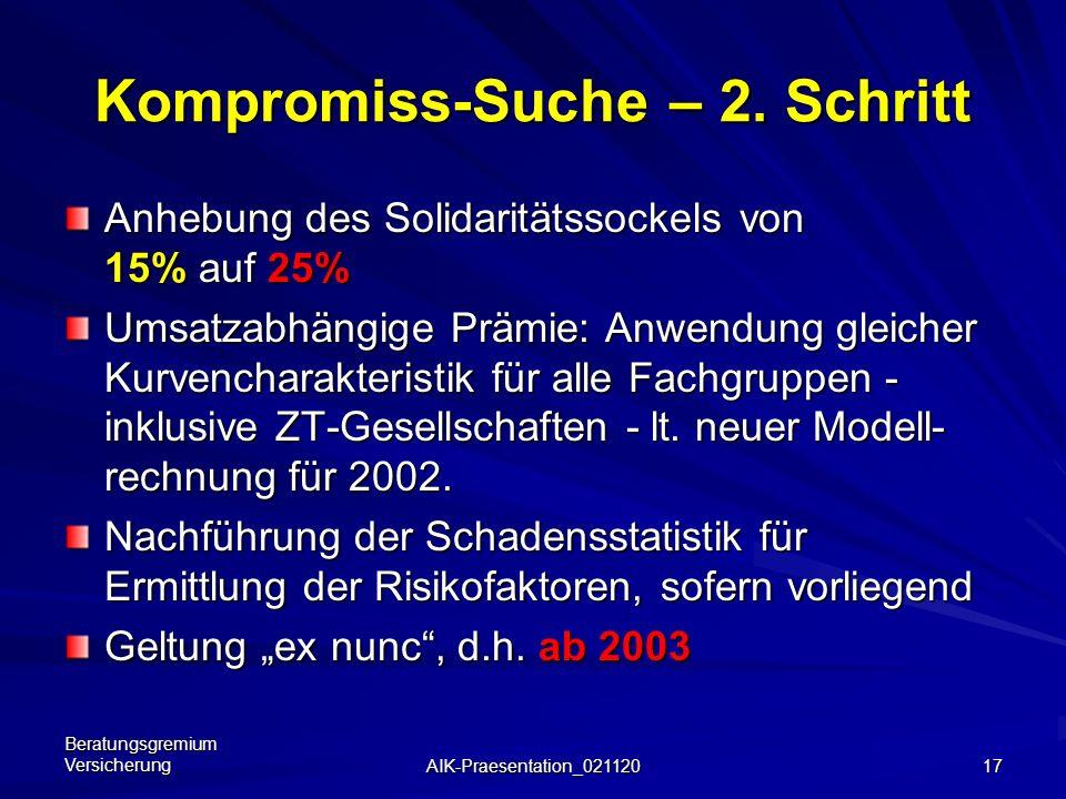 Kompromiss-Suche – 2. Schritt