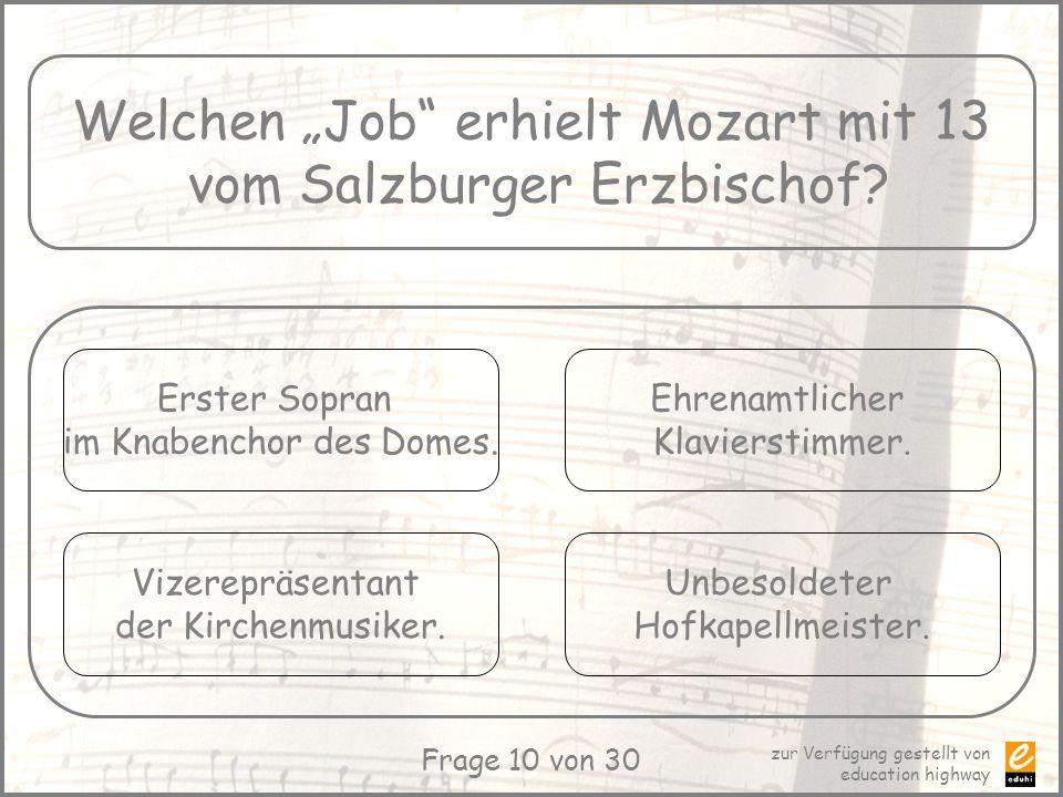 """Welchen """"Job erhielt Mozart mit 13 vom Salzburger Erzbischof"""