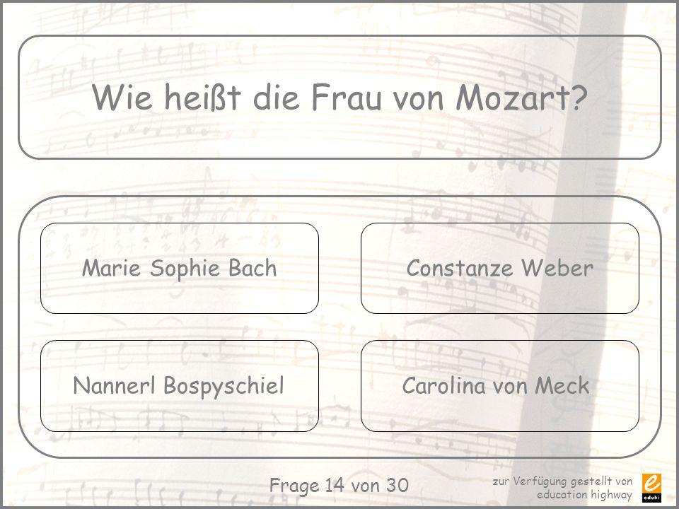 Wie heißt die Frau von Mozart