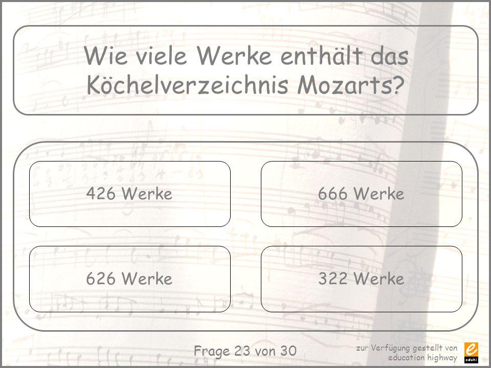 Wie viele Werke enthält das Köchelverzeichnis Mozarts