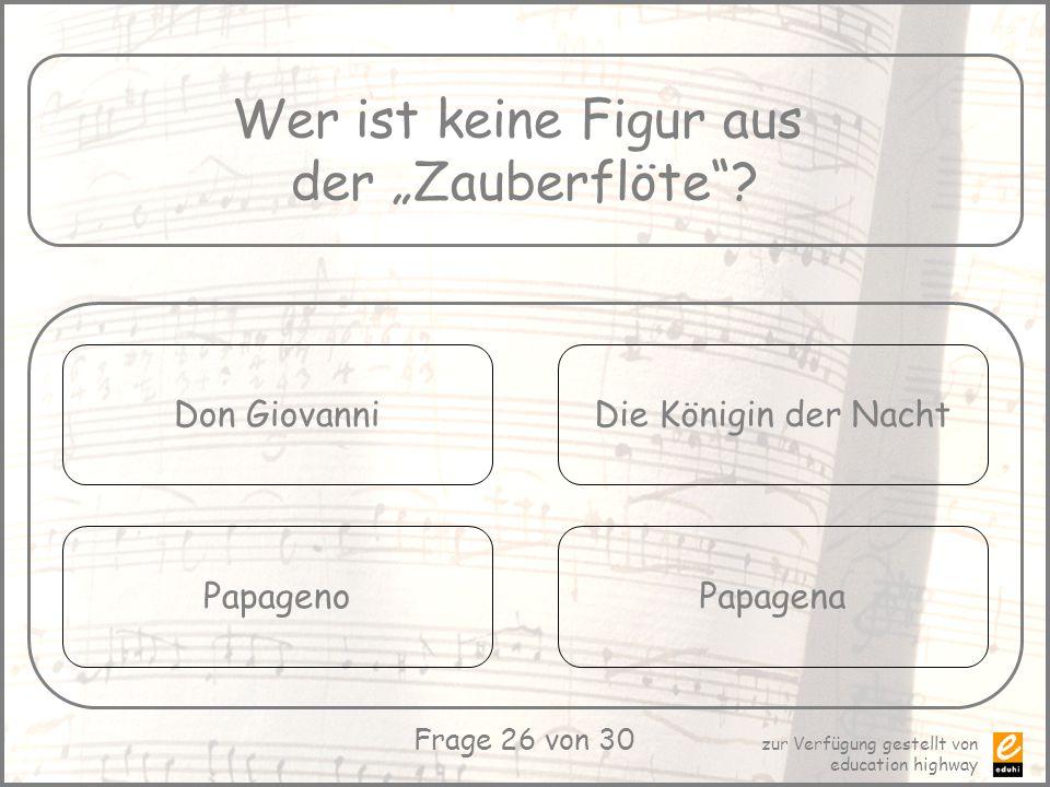 """Wer ist keine Figur aus der """"Zauberflöte Don Giovanni"""