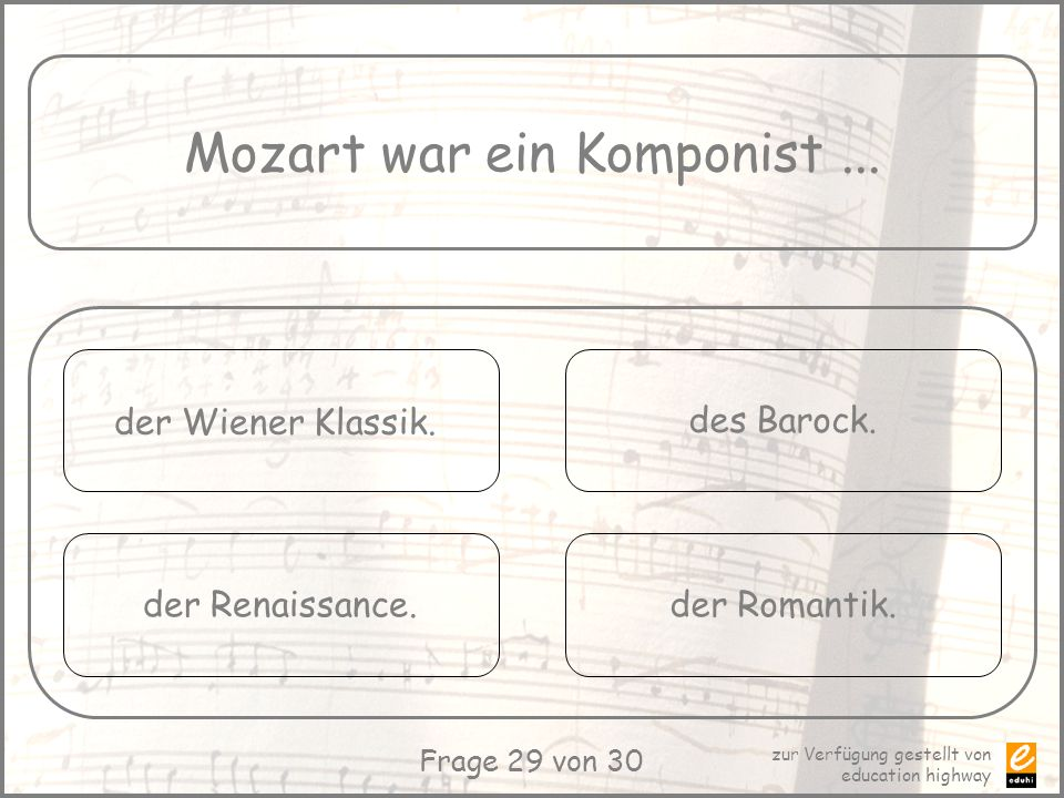 Mozart war ein Komponist ...