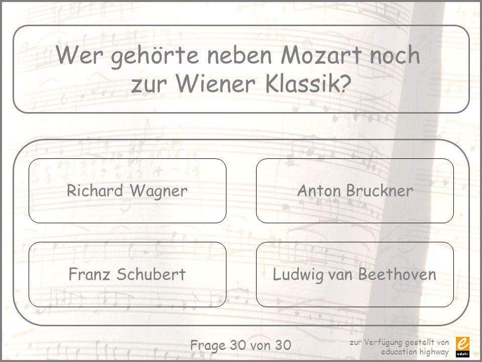 Wer gehörte neben Mozart noch