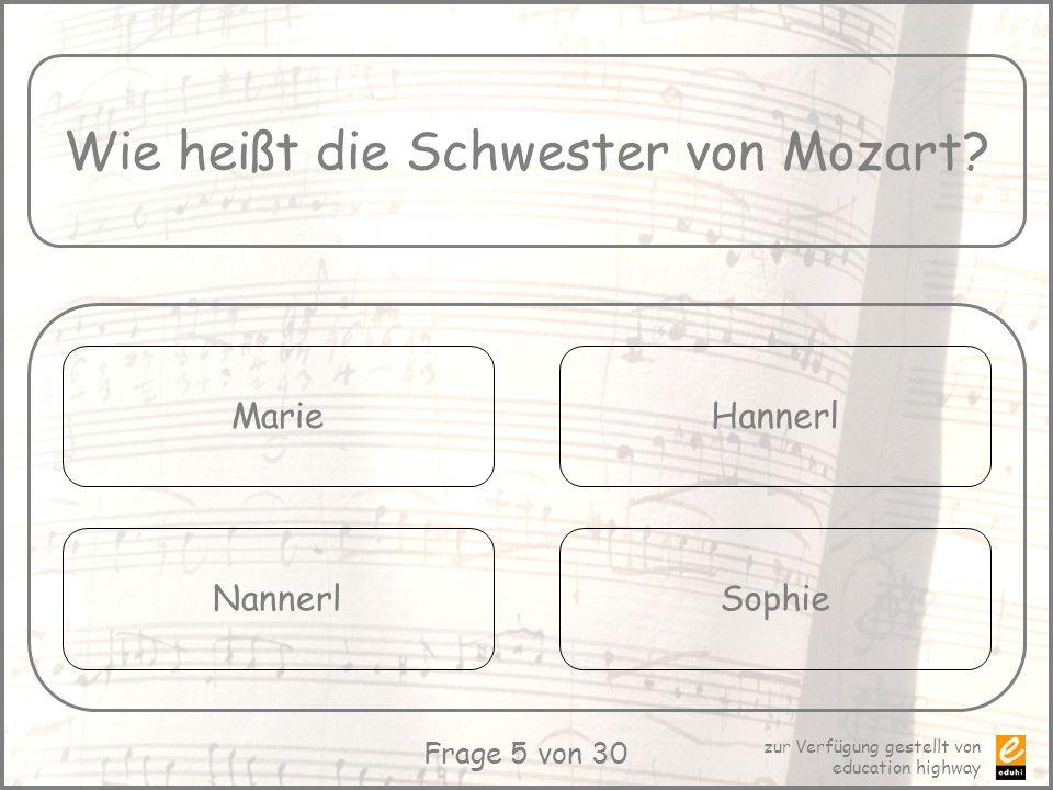 Wie heißt die Schwester von Mozart