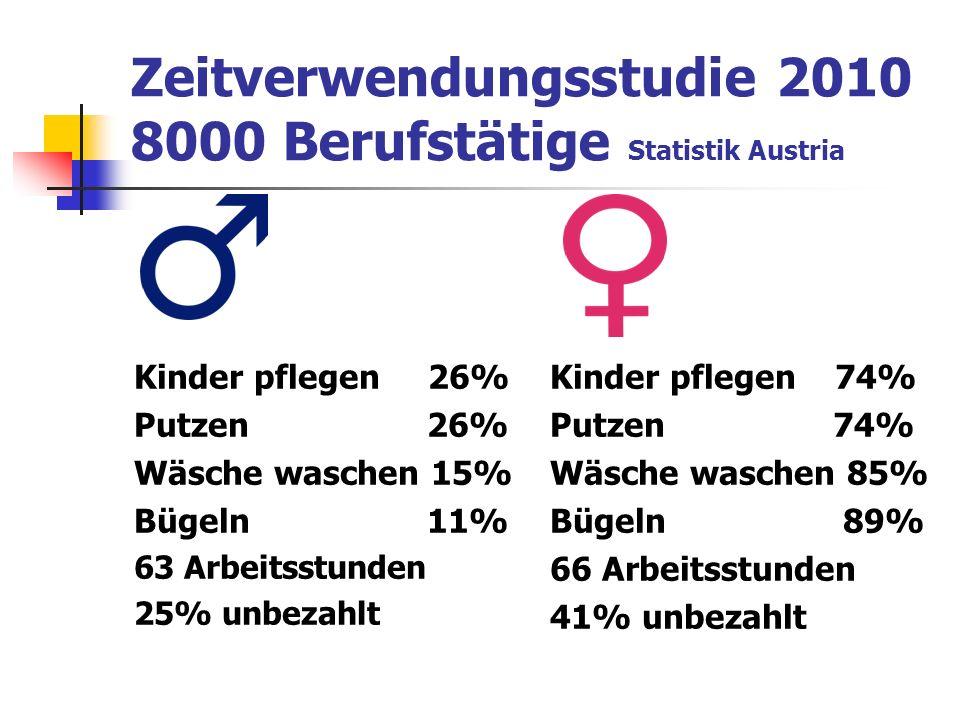 Zeitverwendungsstudie 2010 8000 Berufstätige Statistik Austria