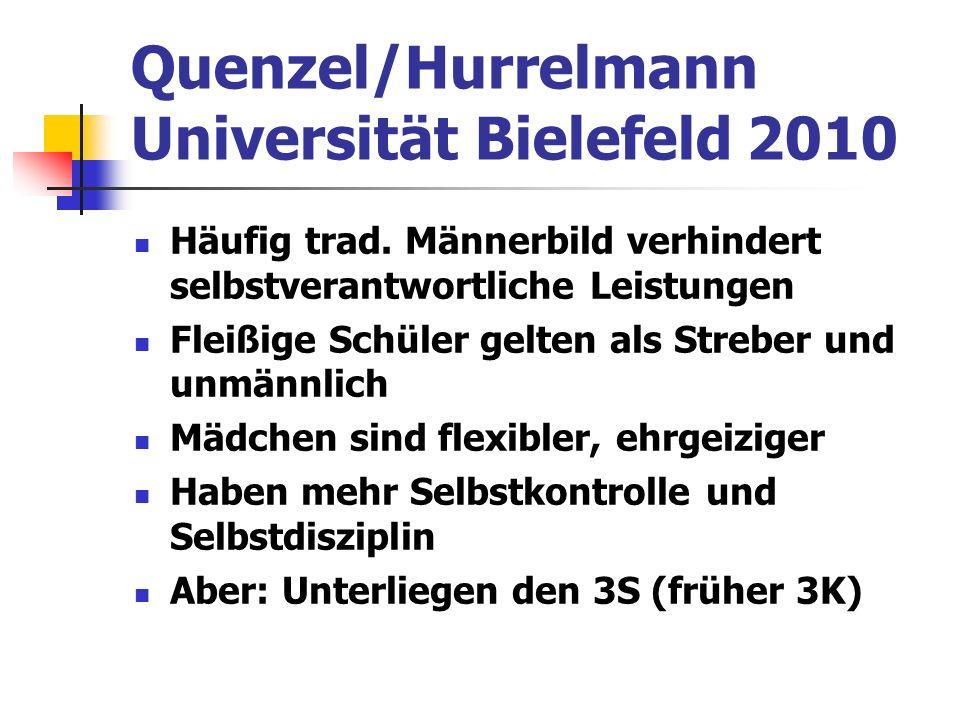 Quenzel/Hurrelmann Universität Bielefeld 2010