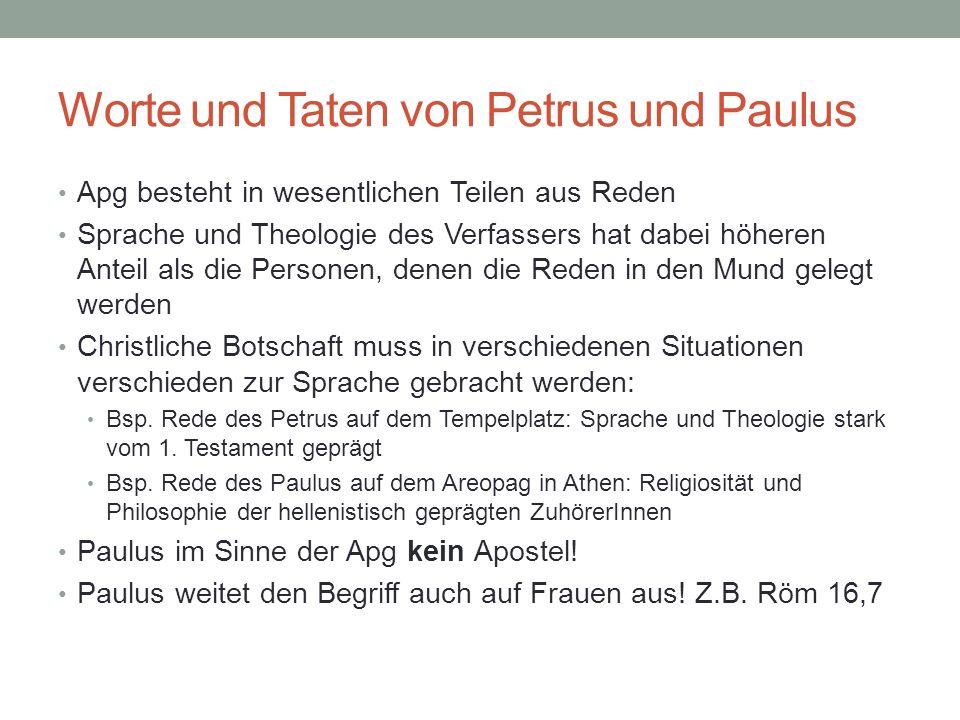 Worte und Taten von Petrus und Paulus