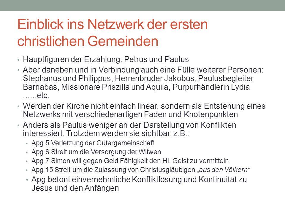 Einblick ins Netzwerk der ersten christlichen Gemeinden