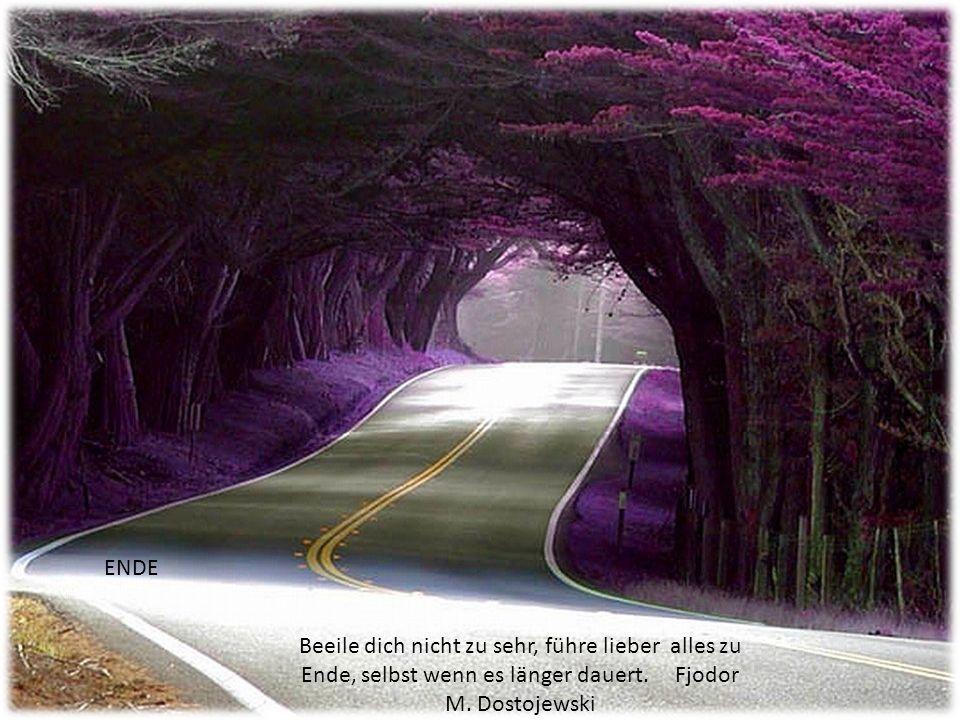 ENDE Beeile dich nicht zu sehr, führe lieber alles zu Ende, selbst wenn es länger dauert.