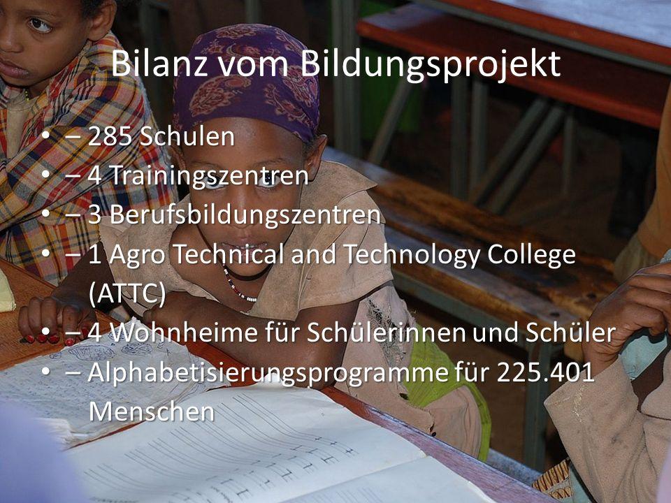 Bilanz vom Bildungsprojekt