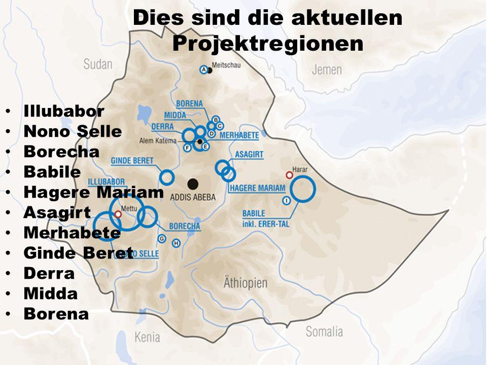 Dies sind die aktuellen Projektregionen