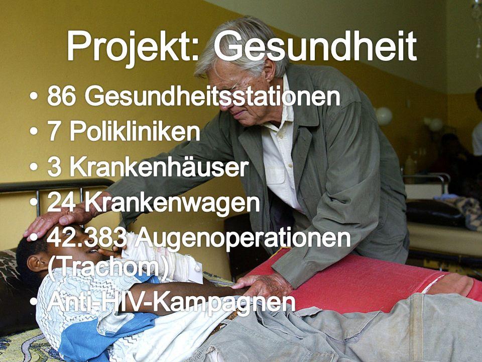Projekt: Gesundheit 86 Gesundheitsstationen 7 Polikliniken