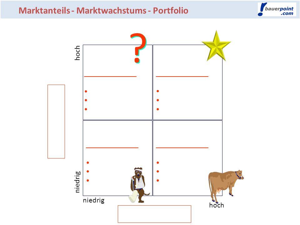 Marktanteils - Marktwachstums - Portfolio ______________