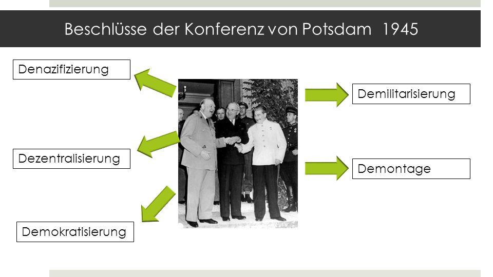 Beschlüsse der Konferenz von Potsdam 1945