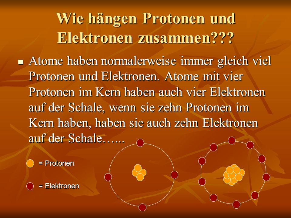 Wie hängen Protonen und Elektronen zusammen