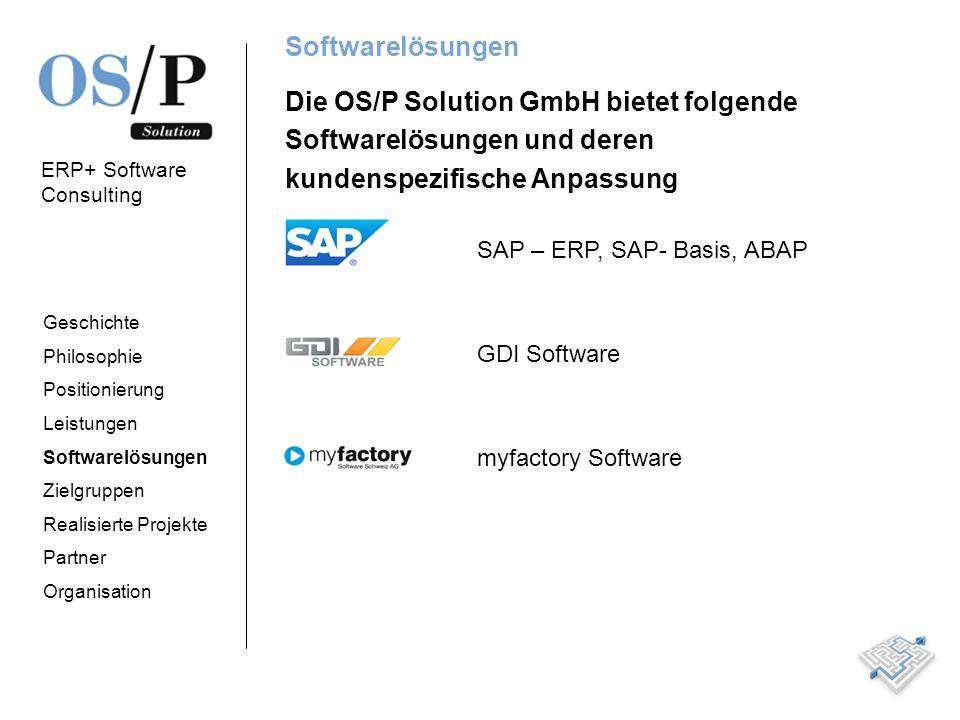 Die OS/P Solution GmbH bietet folgende Softwarelösungen und deren