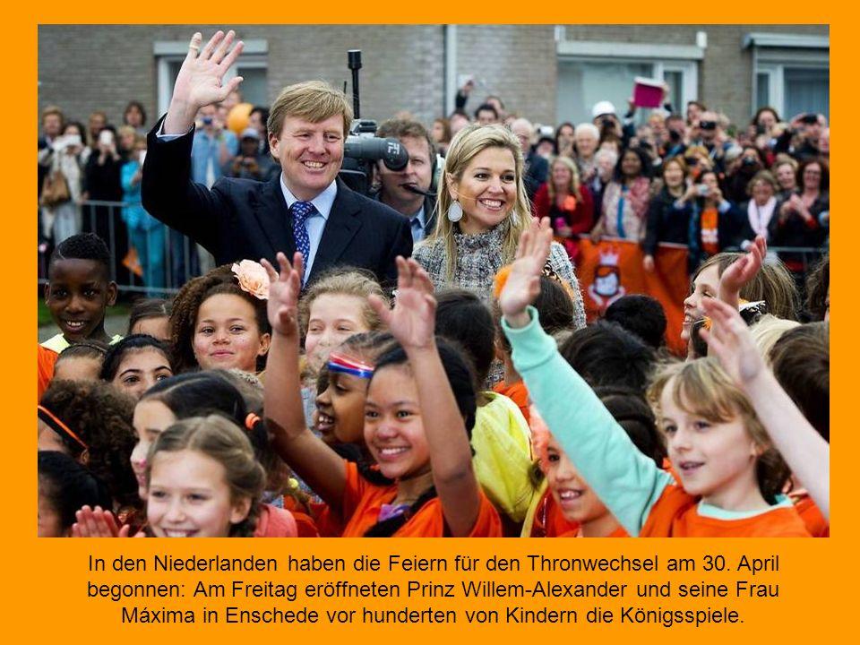 In den Niederlanden haben die Feiern für den Thronwechsel am 30