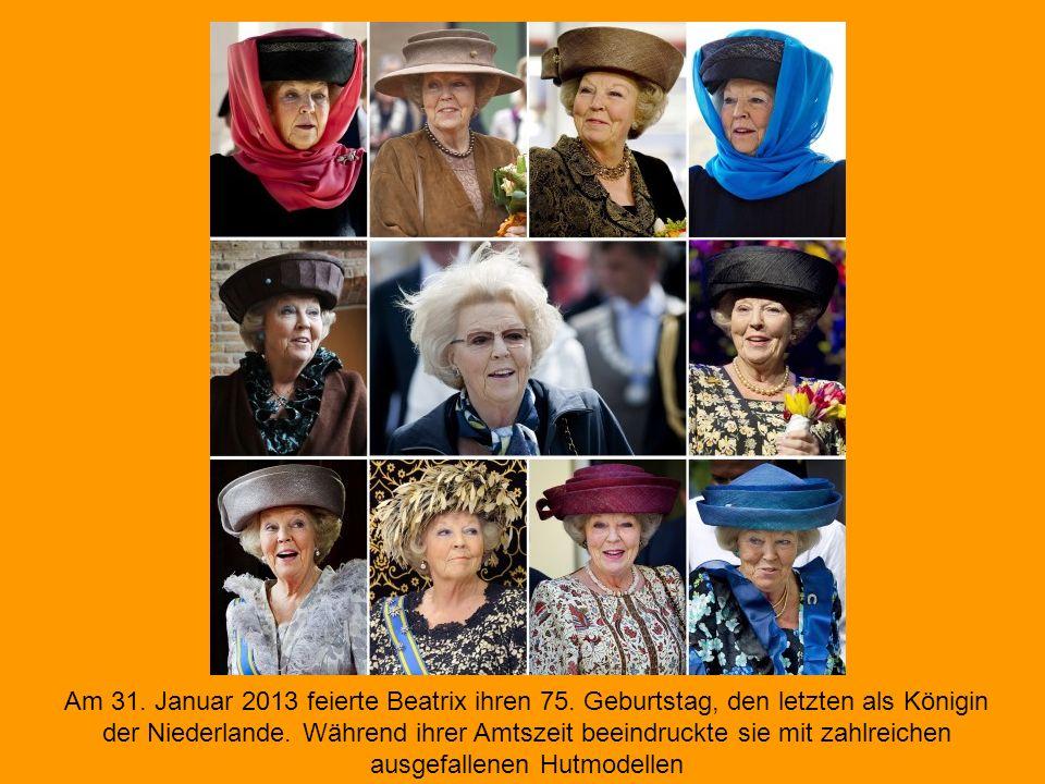 Am 31. Januar 2013 feierte Beatrix ihren 75