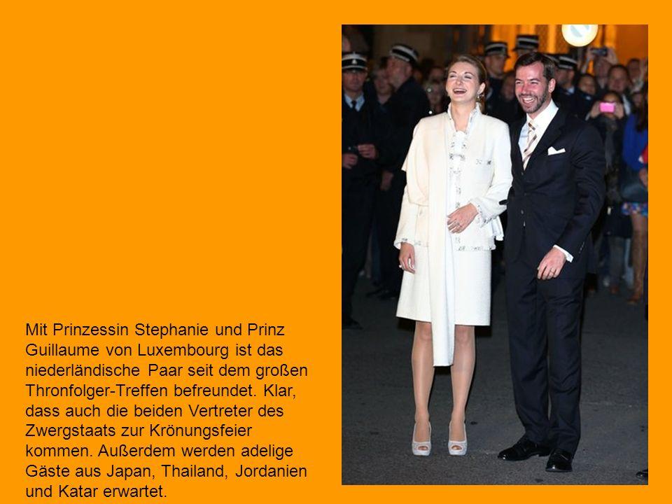 Mit Prinzessin Stephanie und Prinz Guillaume von Luxembourg ist das niederländische Paar seit dem großen Thronfolger-Treffen befreundet.