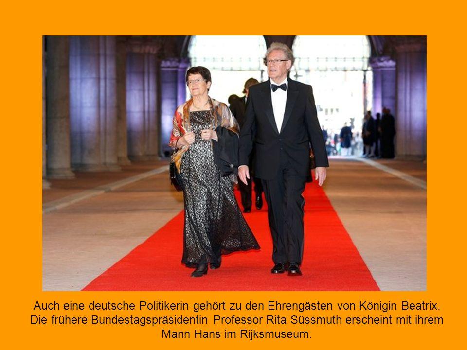 Auch eine deutsche Politikerin gehört zu den Ehrengästen von Königin Beatrix.