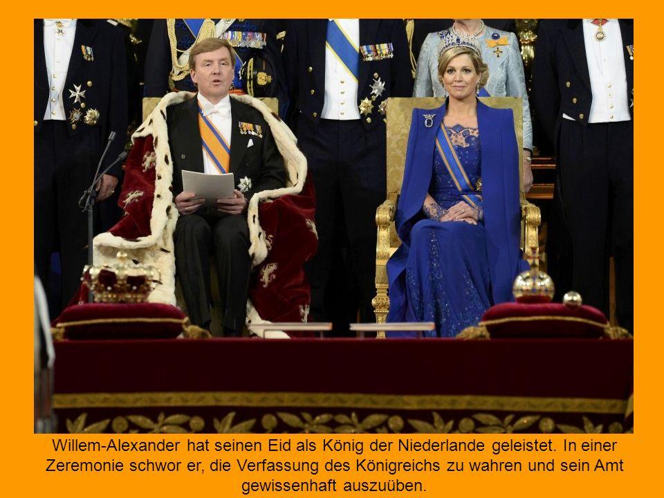 Willem-Alexander hat seinen Eid als König der Niederlande geleistet