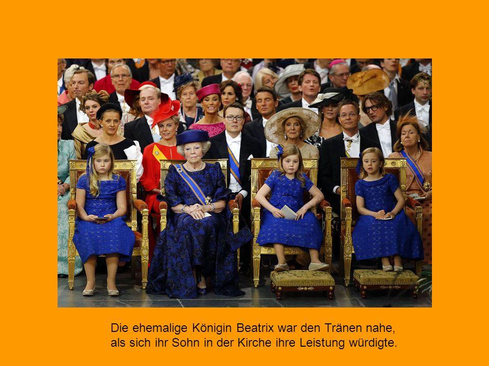 Die ehemalige Königin Beatrix war den Tränen nahe,