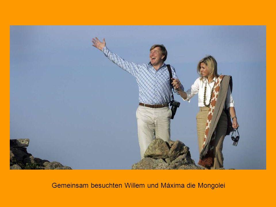 Gemeinsam besuchten Willem und Máxima die Mongolei