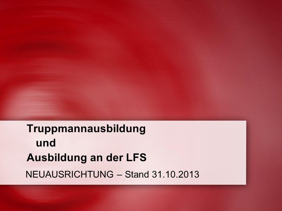 Truppmannausbildung und Ausbildung an der LFS