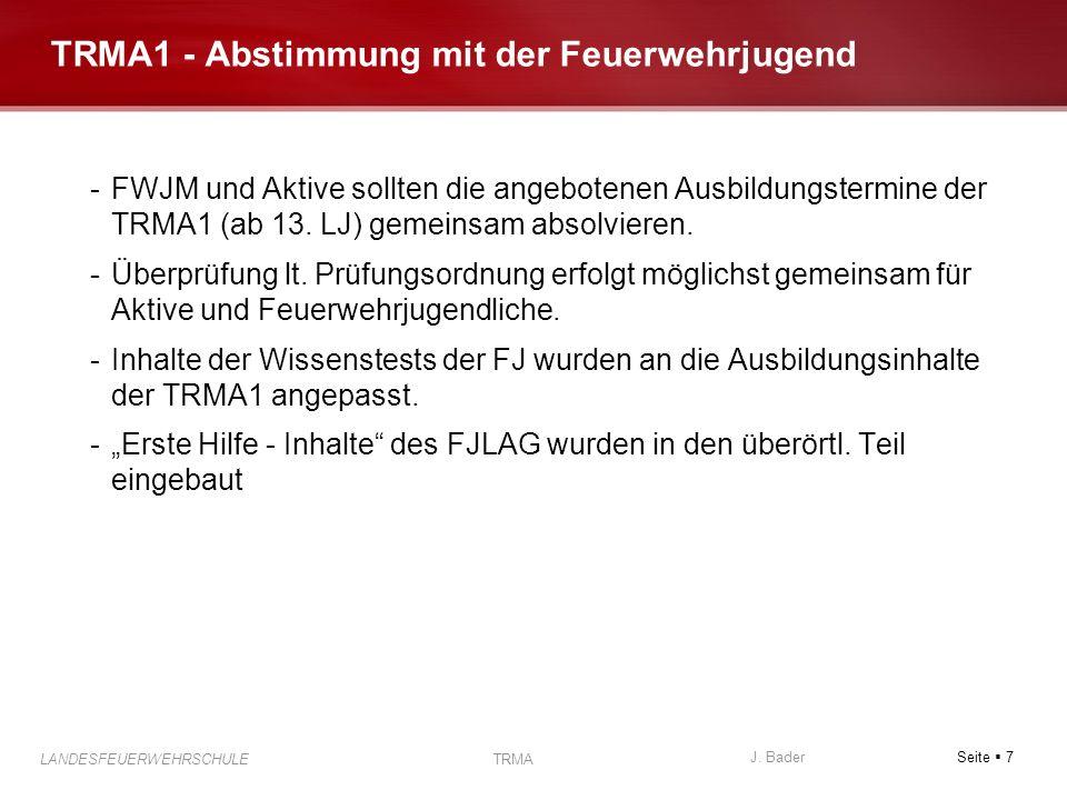 TRMA1 - Abstimmung mit der Feuerwehrjugend