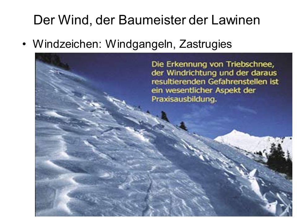 Der Wind, der Baumeister der Lawinen