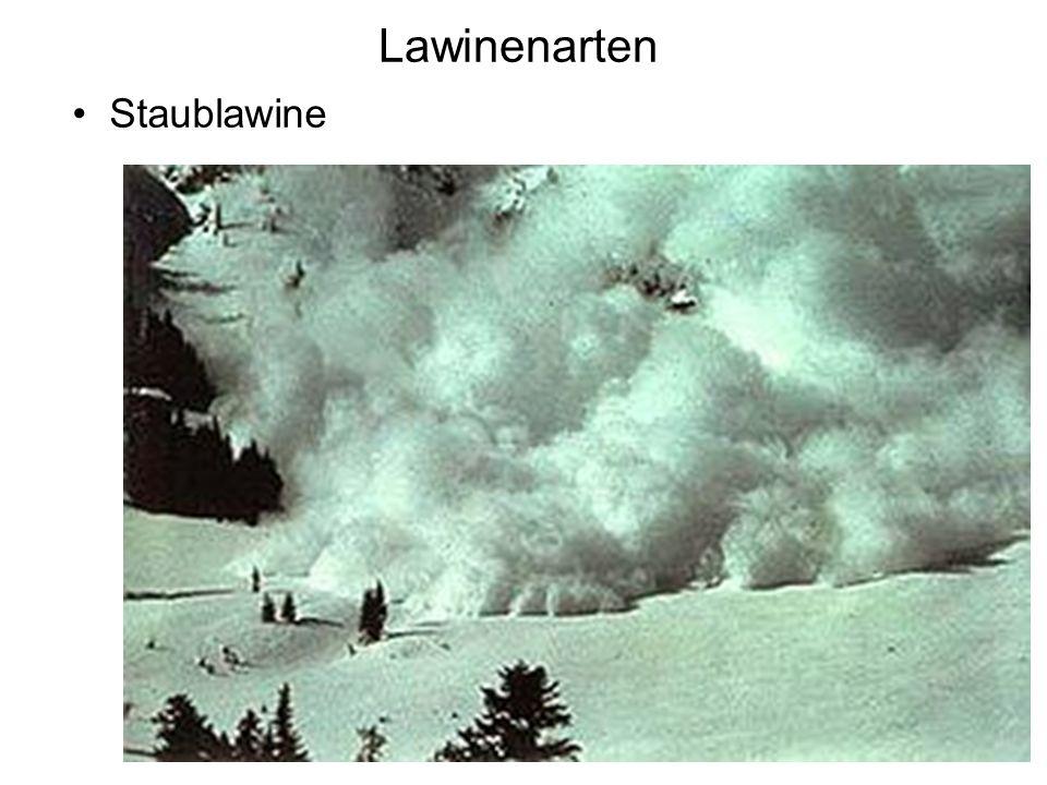Lawinenarten Staublawine