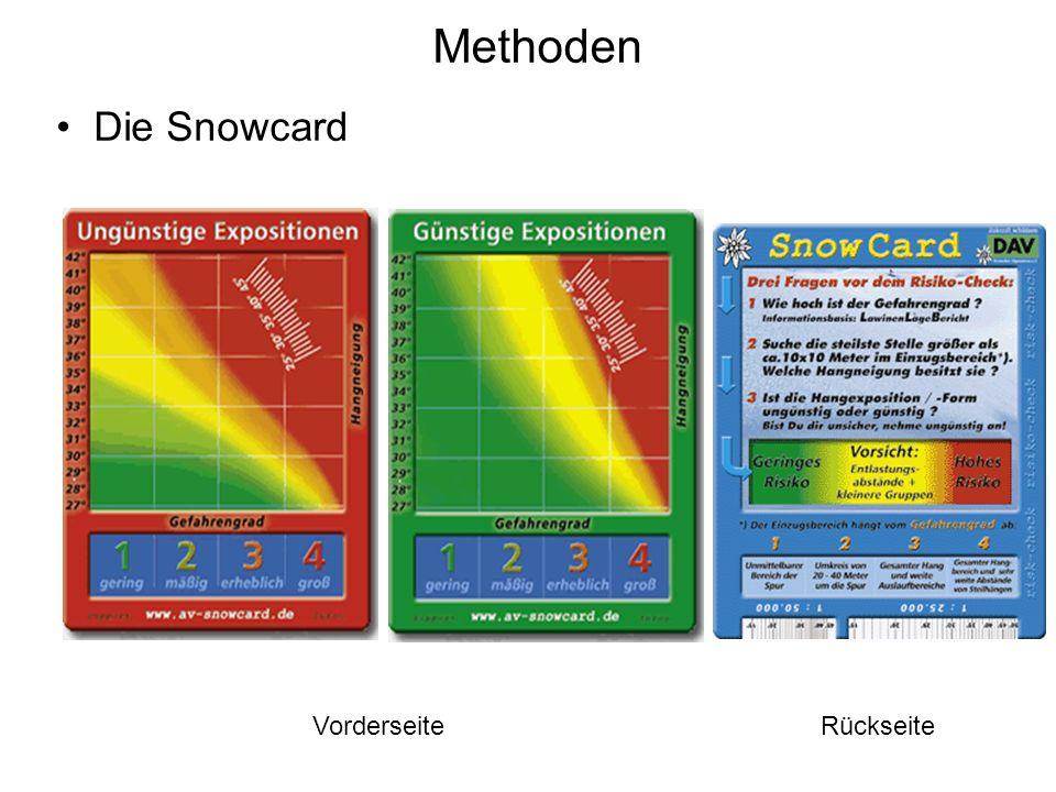 Methoden Die Snowcard Vorderseite Rückseite