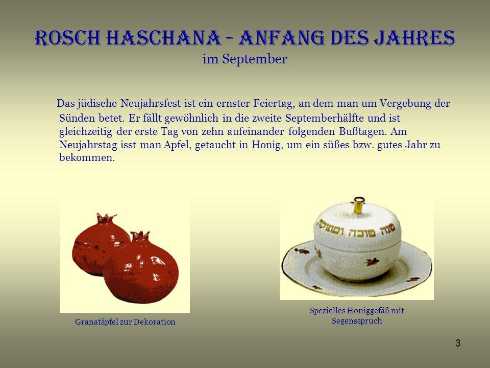 Rosch Haschana - Anfang des JAHRES im September