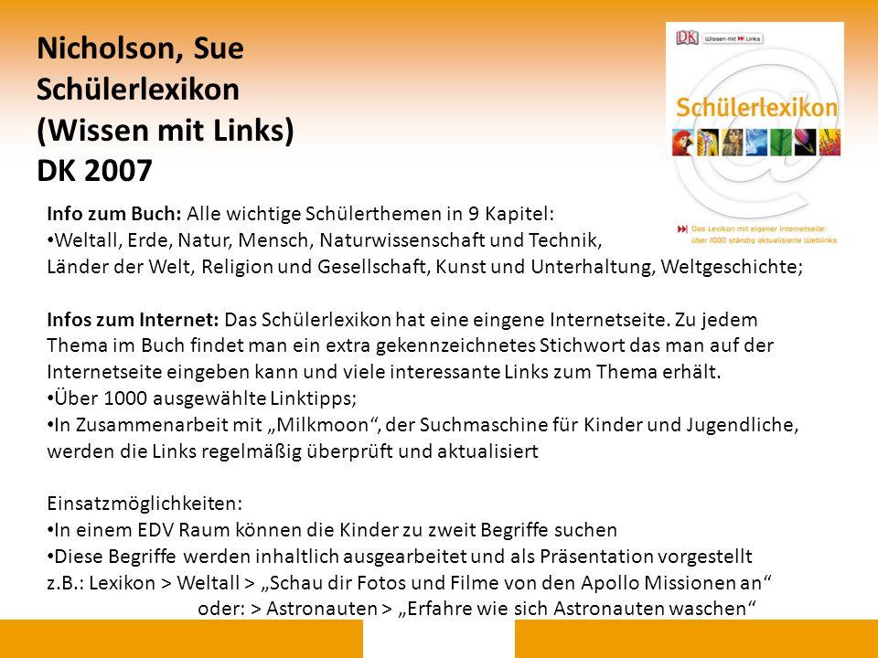 Nicholson, Sue Schülerlexikon (Wissen mit Links) DK 2007